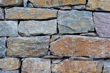 Attraktives Trockenmauerwerk