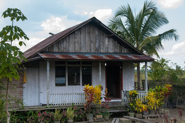 Traditional house in fishing village