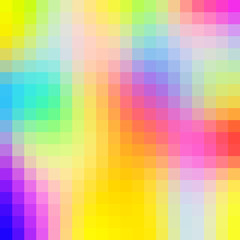 Abstract colorful pixel art background