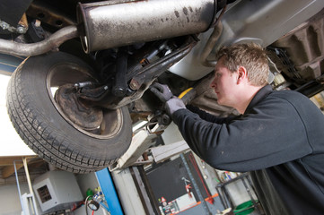 Repairing and checking a car