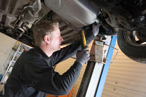 Repairing and checking a car