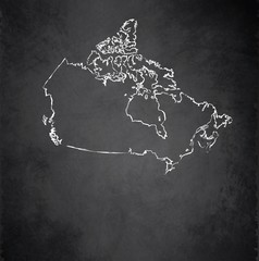 Canada map blackboard chalkboard vector