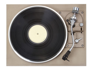 Turntable, isolated on white background