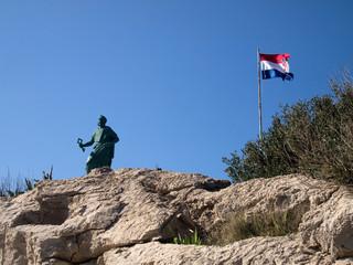 Saint Peter monument in Makarska