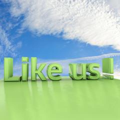 Like us - 3d Render