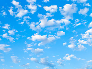 lot of small white clouds in blue sky