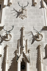 Heads deer as decoration