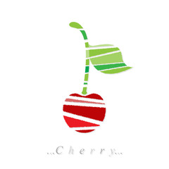 Vector of fruit, cherry icon on isolated white background