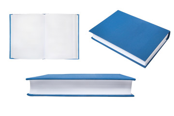 Collection of Books, Blue Cover Books,Isolated