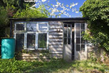 Idyllic garden shed