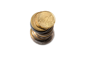 Stack Coins, European Currency