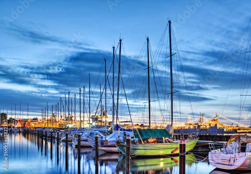 Leinwanddruck Bild Segelboote