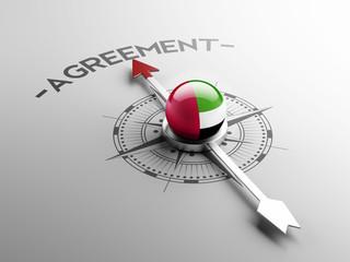 United Arab Emirates. Agreement Concept