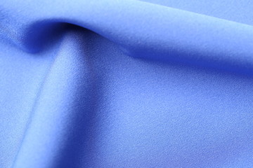 Blue satin with copy-space