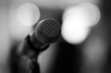 microphone - black and white