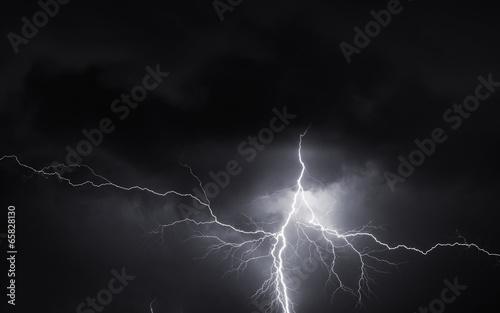 Thunder, lightnings and storm