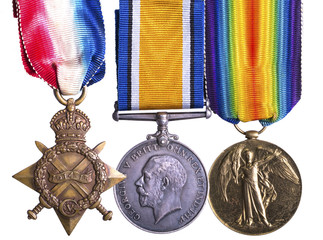 World War I medal group known as Pip Squeak and Wilfred