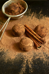 Chocolate truffles.