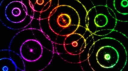 Abstract Colorful Circles Animation - Loop