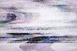 canvas print picture - Digital television noise