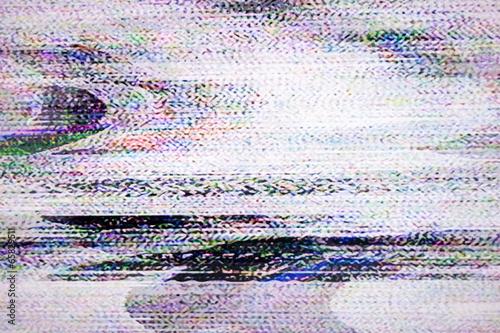 canvas print picture Digital television noise