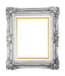 Bronze photo frame isolated with clipping path.