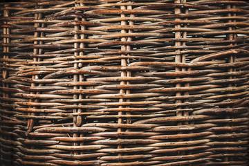 vintage wicker vine texture