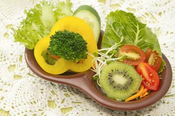 healthy salad ,fusion food