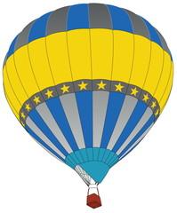 Hot Air Balloon for Transportation Concept.