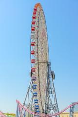 A huge ferris wheel in Yokohama City, Japan