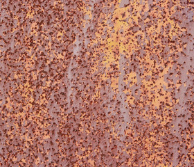Rust. Metallic wall.