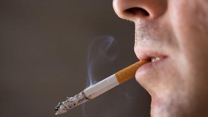 Smoking Man Close Up