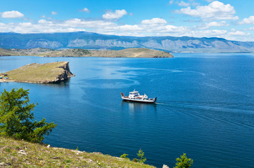 Summer travel on Lake Baikal