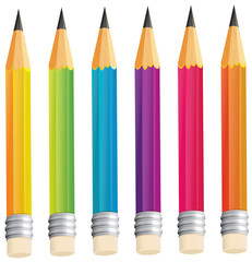 A group of sharp pencils