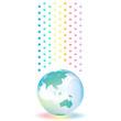 虹色の雨 地球 梅雨