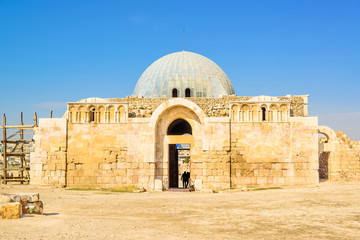 The old Umayyad Palace in Amman Citadel, Jordan.