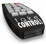 Take Control Remote Assertive Attitude Ambition Confidence poster