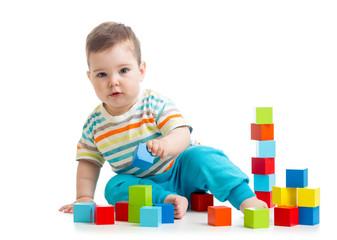 kid boy building block toys