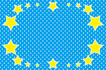 背景(水玉・星柄)