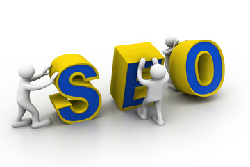 "3d people and word ""seo""..."