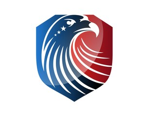 hawk logo eagle USA flag symbol icon