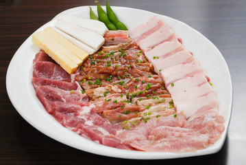 Fresh Beef slices korean grilled menu