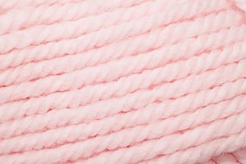 Close Up Pink Yarn