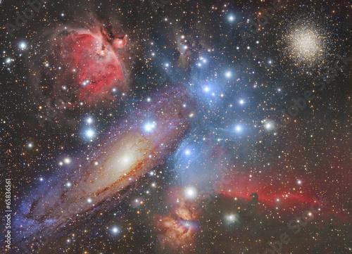 Mosaic of space wonders.