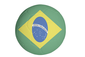 graphic of flag of Brazil on a soccer ball