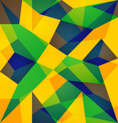 Brazil flag colors concept beautiful vector texture background