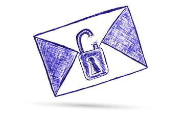 hand draw sketch envelope - Confidential