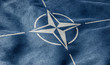 Leinwandbild Motiv Flagge der NATO