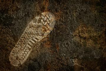 Footprint on the earth