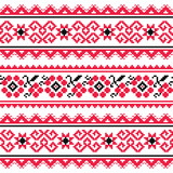 Ukrainian folk art embroidery pattern or print - 65838330